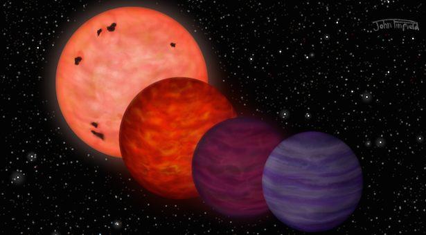 Evolusi bintang katai Y, WISE J0304-2705, dari bintang panas menjadi bintang paling dingin. Kredit: John Pinfield, 2014.