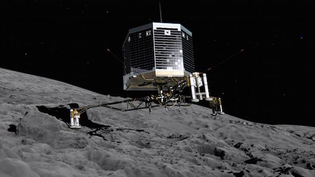 Ilustrasi Philae mendarat di komet 67P/Churyumov-Gerasimenko. Kredit: ESA/ATG medialab.