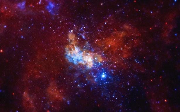 Area di sekitar lubang hitam supermasif di pusat Galaksi Bimasakti: Sagittarius A*. Kredit: NASA/CXC/Amherst College/D. Haggard dkk.