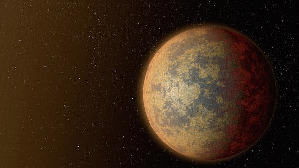 Ilustrasi exoplanet batuan HD 219134b. Kredit: NASA/JPL-Caltech