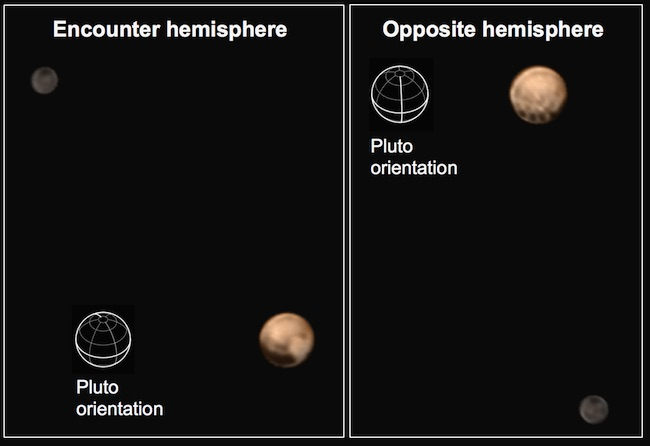 Dua wajah Pluto yang dilihat New Horizons. Kredit: New Horizons/NASA