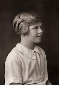 Venetia Burney ketika berusia 11 tahun.