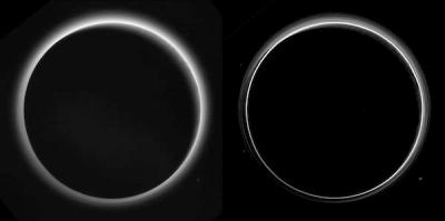 Kabut di Pluto yang memiliki lebih banyak lapisan dari sebelumnya. Kredit: NASA/Johns Hopkins University Applied Physics Laboratory/Southwest Research Institute