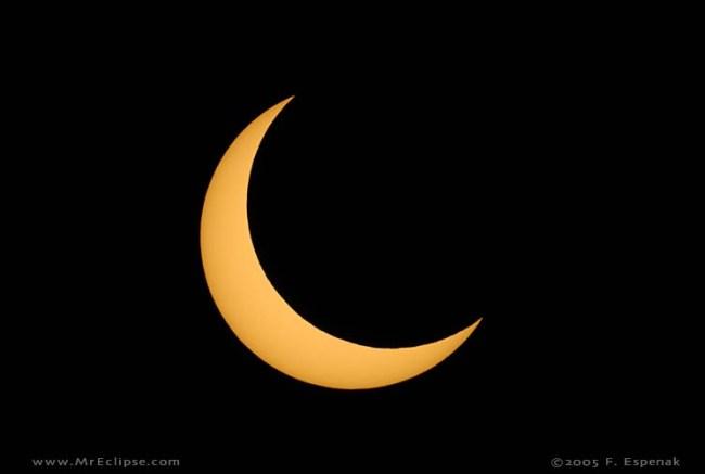 Gerhana Matahari Sebagian. kredit: Mr. Eclipse/Fred Espenak