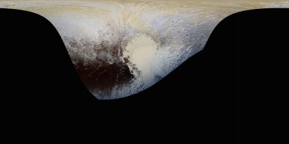 Peta berwarna Pluto. Kredit: NASA/Johns Hopkins University Applied Physics Laboratory/Southwest Research Institute