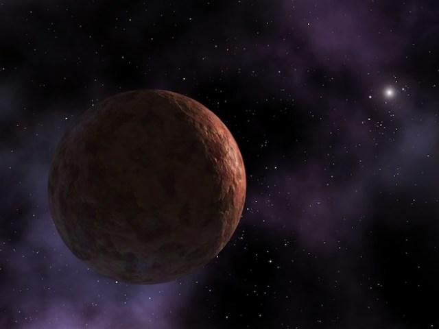 Ilustrasi Sedna, salah satu obyek terjauh di tata Surya. Kredit: Wikimedia