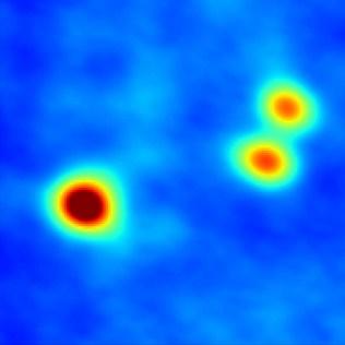 Sistem bintang bertiga di Awan Molekular Perseus. Kredit: Tobin, et al., NRAO/AUI/NSF.