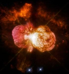 Eta Carinae. Kredit: NASA, ESA, & tim Hubble SM4 ERO