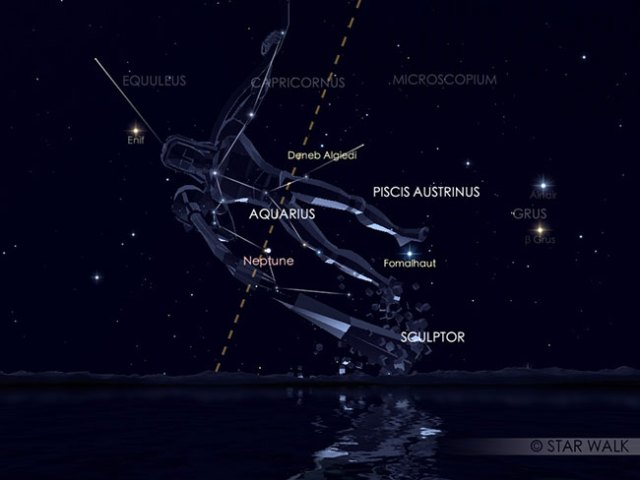 Hujan meteor Eta Aquarid. Kredit: Star Walk