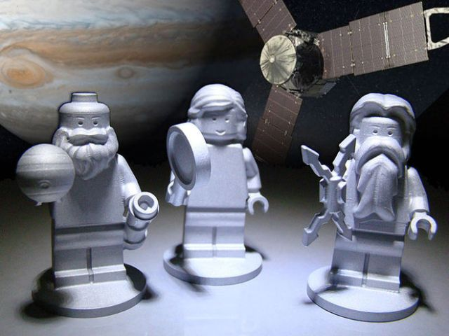 Ki-ka: Lego Galileo, Juno dan Jupiter yang diterbangkan bersama Juno untuk mengunjungi Jupiter. Kredit: Space.com