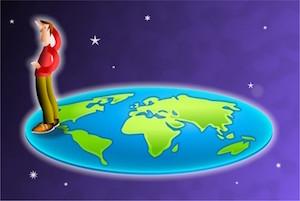 Dimanakah batas Bumi? Konsep Bumi datar.