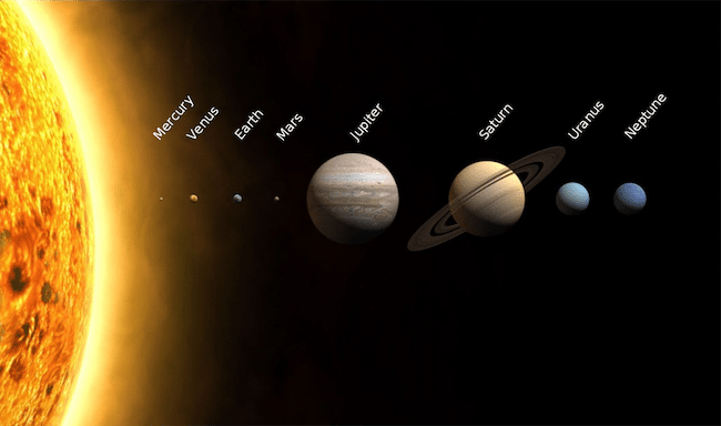 Planet-planet di Tata Surya. Kredit: NASA / Wikimedia