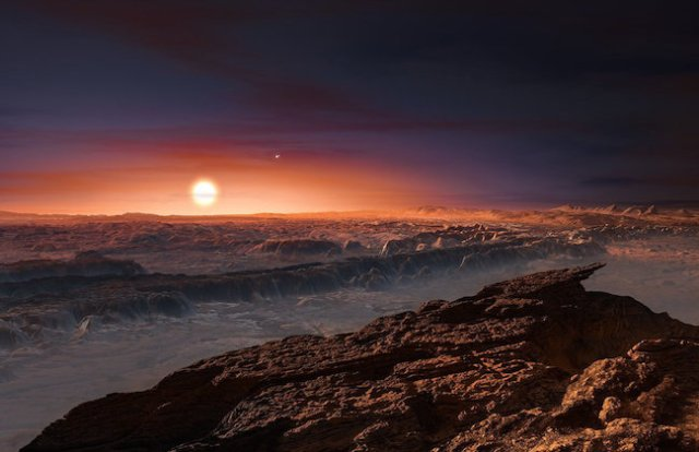 Ilustrasi Proxima b. Kredit: M. Kornmesser/ESO
