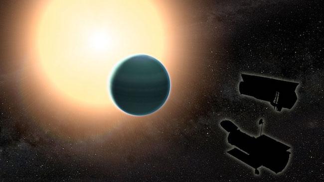 Ilustrasi planet HAT-P-26b. Kredit: NASA/GSFC