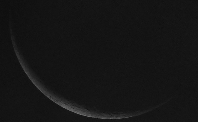 Bulan Sabit 4% tanggal 24 Mei 2017. Kredit: Avivah Yamani / langitselatan