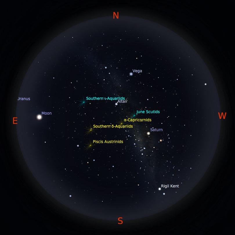 Peta Bintang 15 Juli 2017 pukul 23:59 Kredit: Stellarium