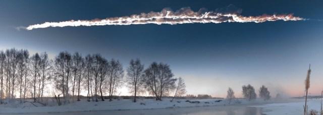 Peristiwa Chelyabinsk di Rusia. Hari Asteroid dirayakan untuk membangun kesadaran bahaya tabrakan asteroid dan memperkenalkan asteorid. Kredit: M. Ahmetvaleev