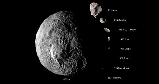 Asteroid di Sabuk Utama. Kredit: NASA