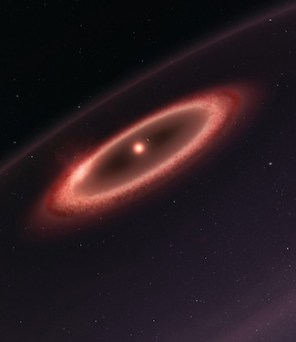Ilustrasi sabuk debu di Proxima CEntauri. Kredit: ESO/M. Kornmesser