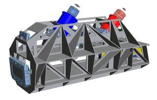 Model komponen optik ESPRESSO. Kredit: ESO/ Konsorsium ESPRESSO