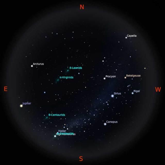 Peta Bintang 15 Februari 2018 pukul 23:59 WIB. Kredit Stellarium