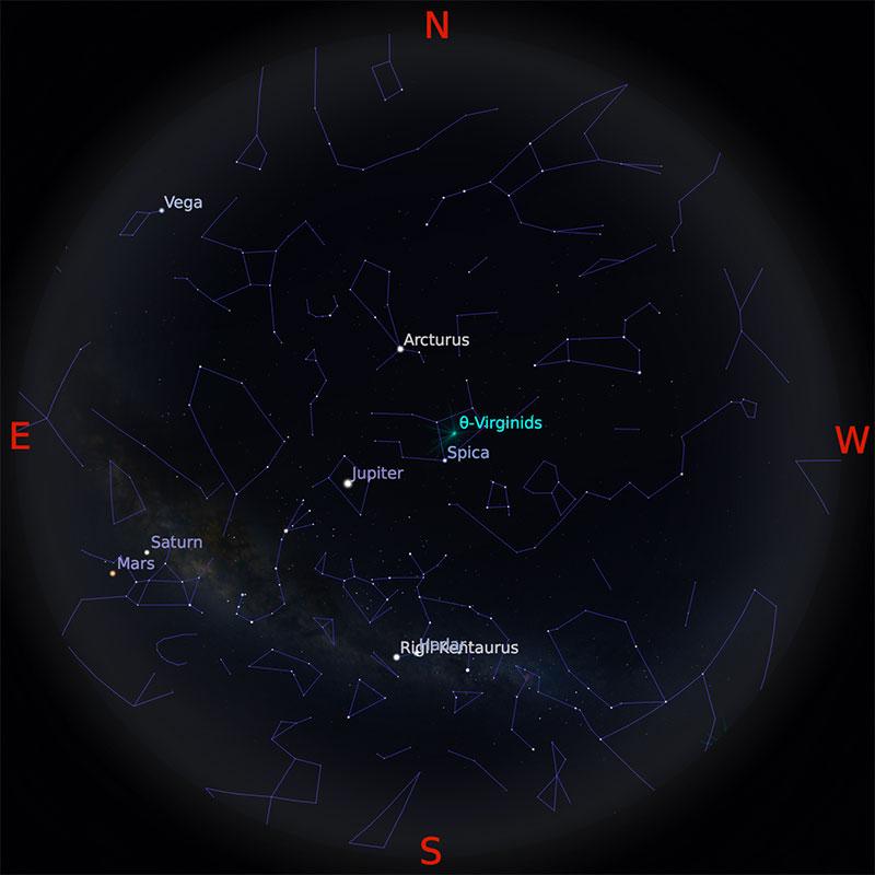 Peta Bintang 15 April 2018 pukul 23:59 WIB. Kredit Stellarium