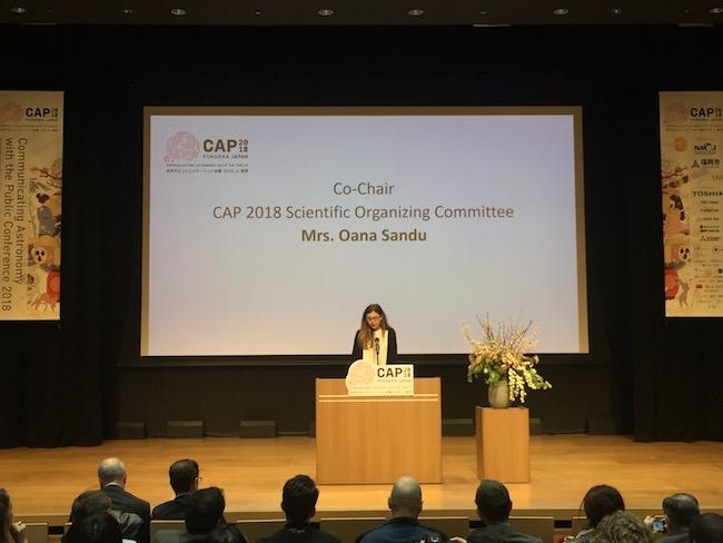 Pembukaan CAP 2018 oleh Oana Sandu.