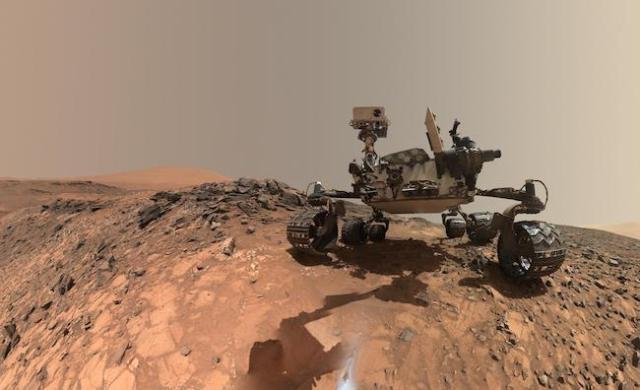Pendarat Curiosity di Mars. Kredit: NASA/JPL-Caltech/MSSS