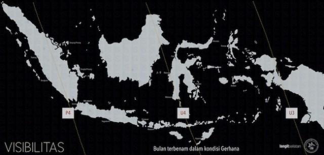 Kenampakan Gerhana Bulan Total 27 Juli 2018 dari Indonesia. Kredit: langitselatan