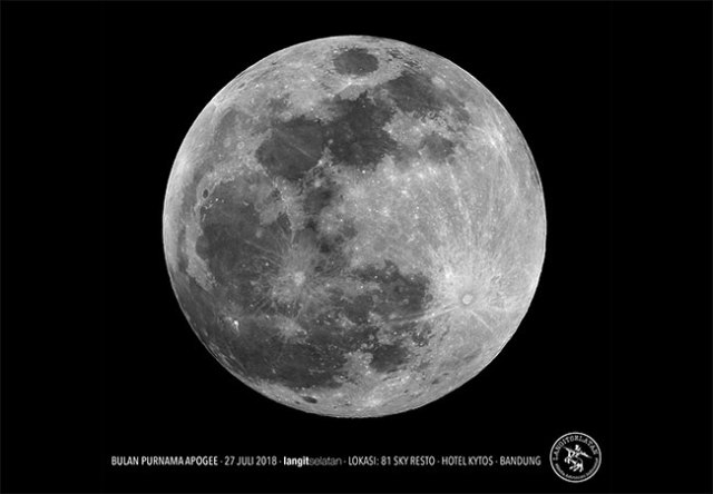 Bulan Purnama Apogee. Kredit: Avivah Yamani / langitselatan