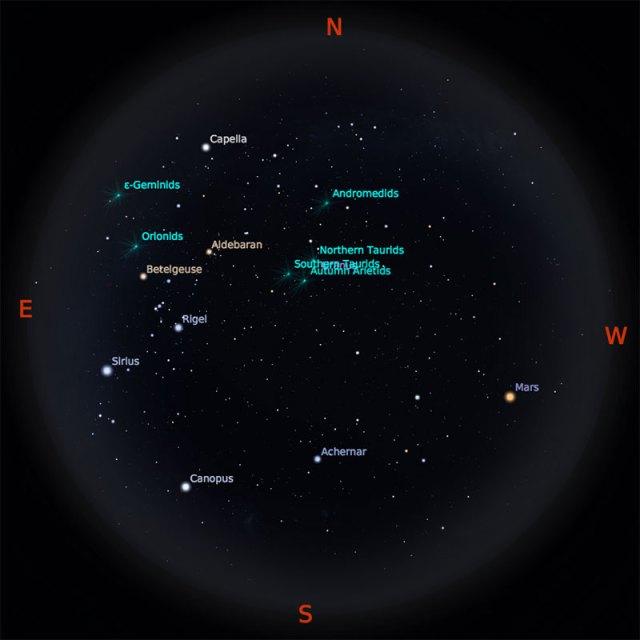 Peta Bintang 15 Oktober 2018 pukul 23:59 WIB. Kredit: Stellarium