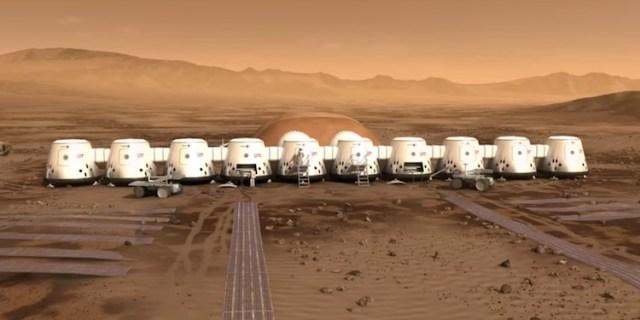 Ide koloni di Mars dalam Proyek Mars One. Kredit: Mars One