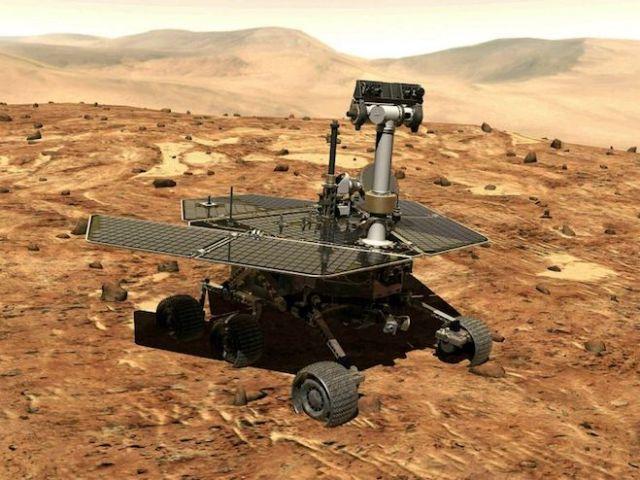 Ilustrasi Opportunity di Mars. Kredit: NASA