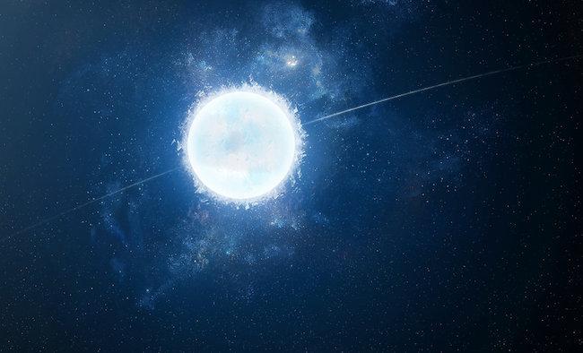 Ilustrasi bintang katai putih.
