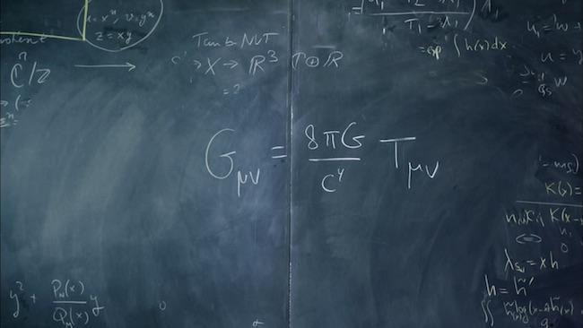Persamaan medan Einstein. Kredit: Inside Eisntein Mind / Nova