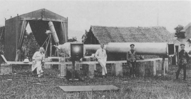 Foto pengamatan Gerhana Matahari Total 1929 di Sumatera oleh Erwin Freundlich. Kredit: Erwin Finlay Freundlich