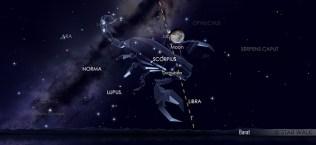 Konjungsi Bulan dan Jupiter pada tanggal 14 Juli pukul 01:30 WIB. Kredit: Star Walk