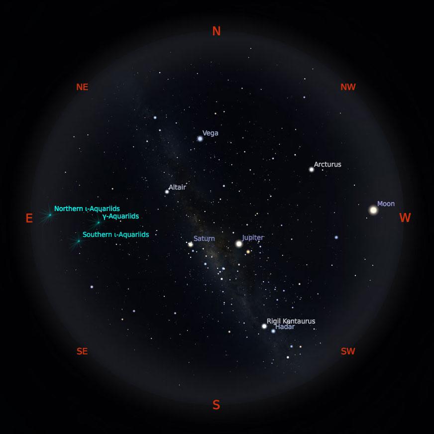 Peta Bintang 1 September 2019 pukul 19:00 WIB. Kredit: Stellarium