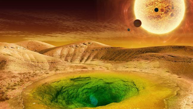 Gambar 1. Ilustrasi kehidupan di exoplanet. Kredit: NASA