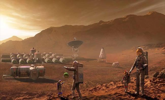 Gambaran kolonisasi di Mars. Kredit: Steven Hobbs/Stocktrek Images/Getty Images
