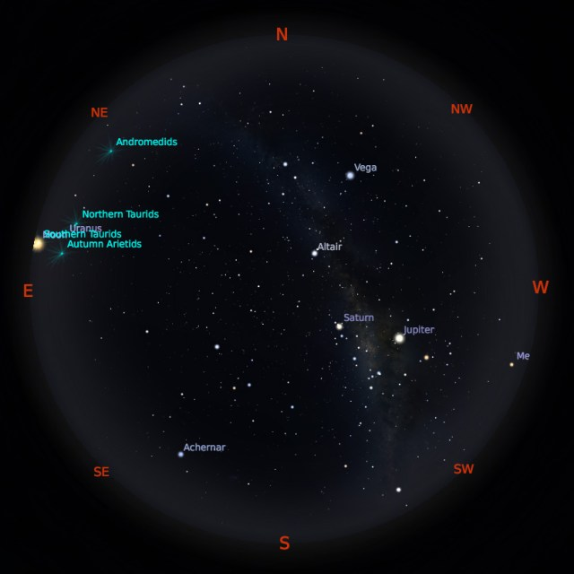 Peta Bintang 15 Oktober 2019 pukul 19:00 WIB. Kredit: Stellarium