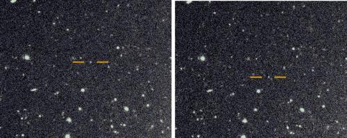 Citra satelit prograde ditemukan di Saturnus. Kredit: Scott Sheppard