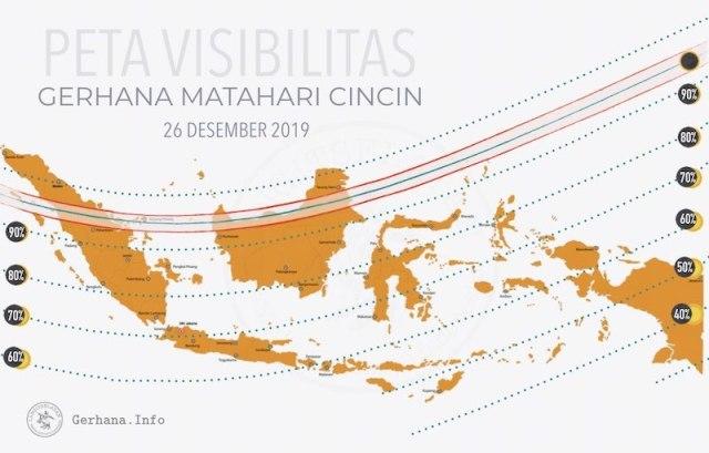 Peta visibilitas Gerhana Matahari Cincin 209. Kredit: langitselatan