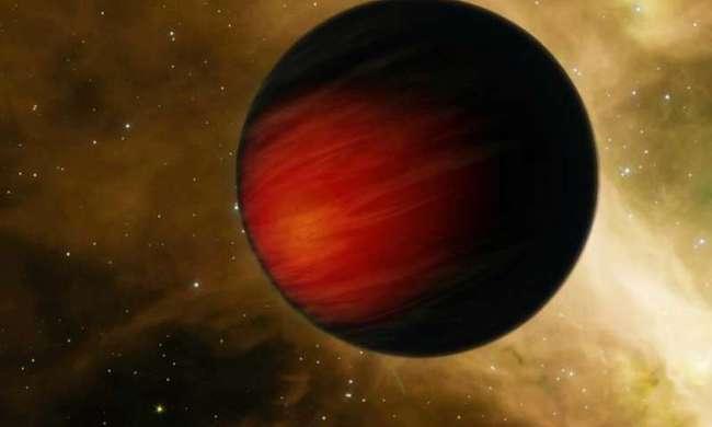 Ilustrasi planet Jupiter panas yang mengorbit sangat dekat dengan bintang induknya. Kredit: NASA/JPL-Caltech