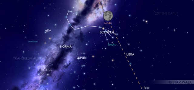 Puncak Gerhana Bulan Penumbra pukul 02:26 WIB dari bandung. Kredit: Star Walk