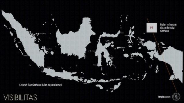 Visibilitas Gerhana Bulan Penumbra 6 Juni 2020 terlihat dari Indonesia. Kredit: Tenggara