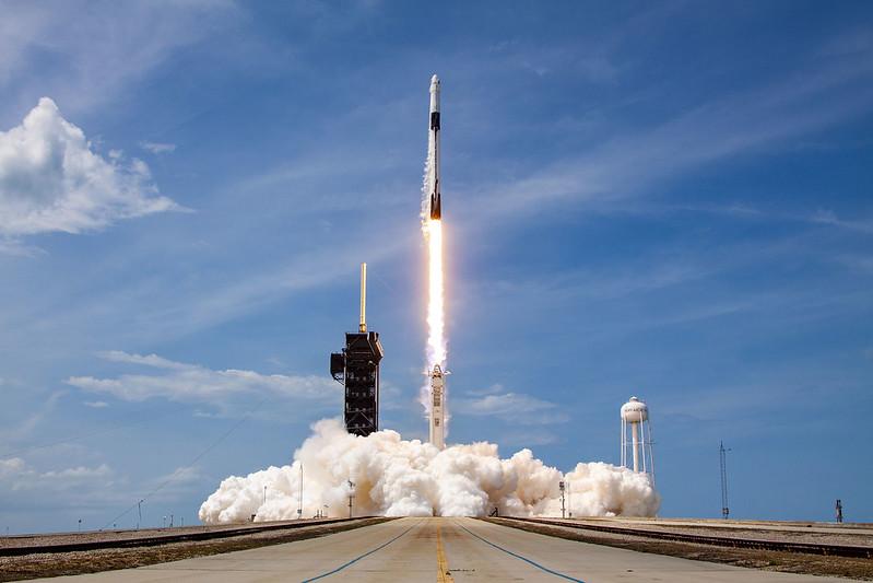 Peluncuran Misi Crew Dragon Demo-2 dari John F. Kennedy Space Center, Florida. Kredit: SpaceX
