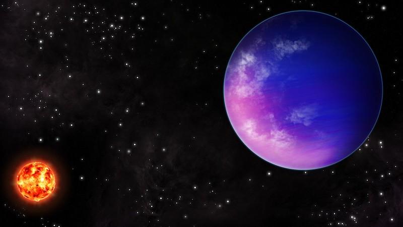 Ilustrasi eksoplanet K2-25b. Kredit: NOIRLab/NSF/AURA/J. Pollard