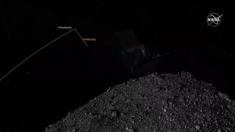 Gambar visualisasi tahap Checkpoint. Sumber: NASA