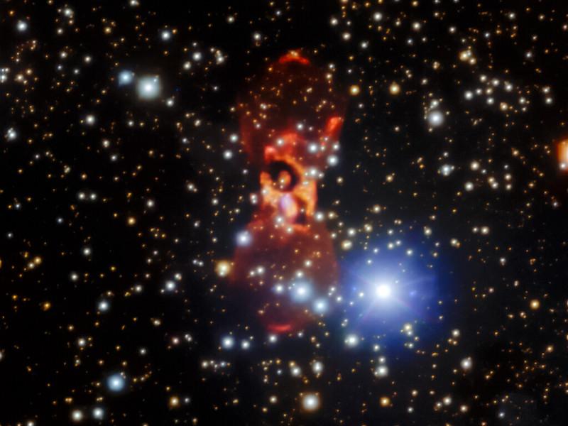 Nebula CK Vulpeculae. Kredit: International Gemini Observatory/NOIRLab/NSF/AURA. Image processing: Travis Rector (University of Alaska Anchorage), Jen Miller (Gemini Observatory/NSF's NOIRLab), Mahdi Zamani & Davide de Martin